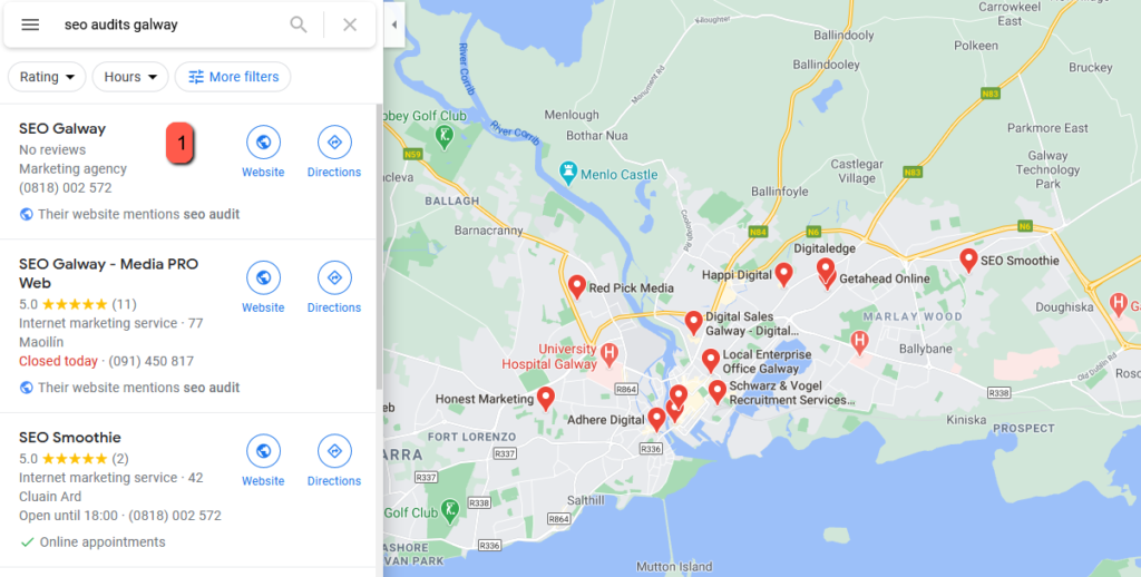 seo audits galway