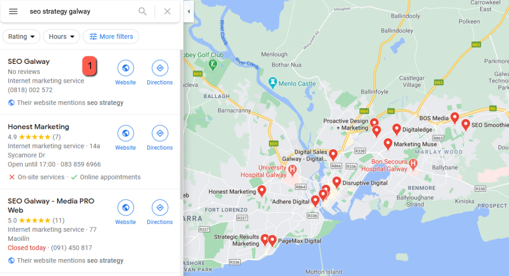 seo strategy galway